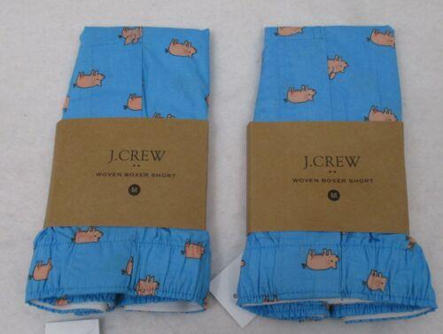 Two Men/'s J Crew Boxers Medium Pigs