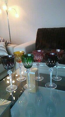 6 Farbige Kristall Römer Gläser Modernes Design