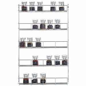 VonShef Spice Rack 1-6 Tier Jar Bottle Storage Kitchen Cupboard Door Mountable