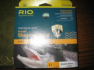 RIO INTOUCH SCANDI 3D #10//11 F//H//I 640 GRAIN SPEY FLY LINE HEAD FOR 10 OR 11 WT