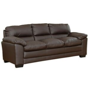 3 Seater Brown Leather Sofa Bed Ebay