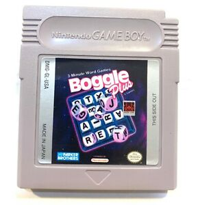 Boggle Plus ORIGINAL NINTENDO GAMEBOY GAME Tested + Working & Authentic!