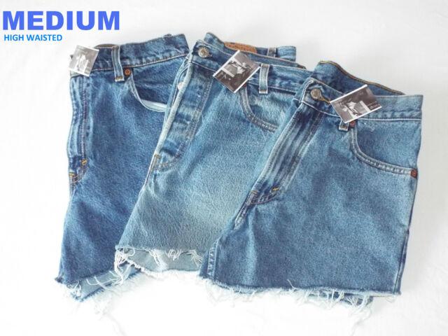 Vintage Womens Levis Denim High & Mid Waisted Shorts Jeans Hotpants 4 6 8 10