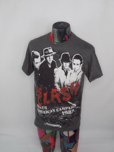 The Clash North American Campaign 1982 T Shirt Med