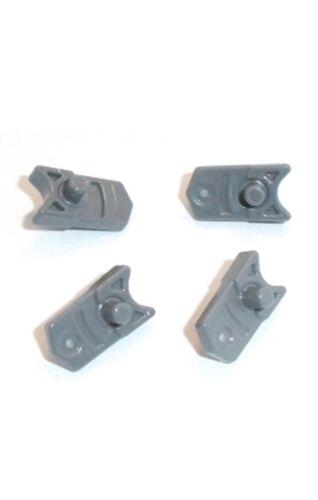 Lego 4 x Dark Grey Minifigure Weapon Trigger for Gun Mini Blaster Shooter New
