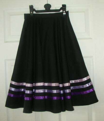 RIBBS your SIZE. RAD IDTA CHARACTER BALLET DANCE SKIRT 3 PURPLE made to measure