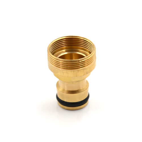 1PC Brass Hose Tap Connector 23mm Threaded Home Water Pipe Adaptor Fitting BSUK