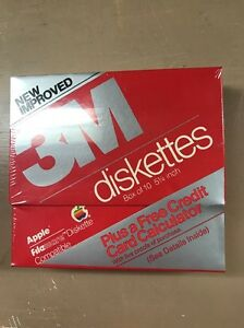 NIB-NOS-NEW-Pack-Of-10-3m-Apple-Lisa-Fileware-Floppy-diskettes-Very-Rare