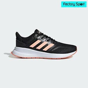 Detalles de Adidas Runfalcon K negro salmon Zapatillas deportivas running  para Mujer y Niña