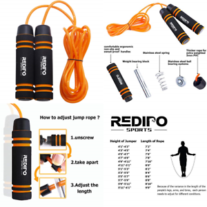 Exercise-1-4LB-Jump-Rope-Heavy-Weighted-Steel-Handles-Gym-Fitness-CrossfIt