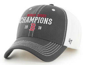 4a64a2a4 🔥 BOSTON RED SOX MLB 2018 WORLD SERIES CHAMPIONS '47 BRAND HAT CAP ...
