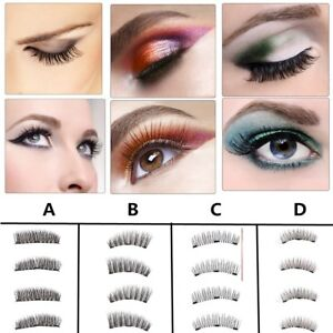 4-x-3D-Faux-cils-magnetique-Extension-Reutilisable-Maquillage-Volumineux-Naturel