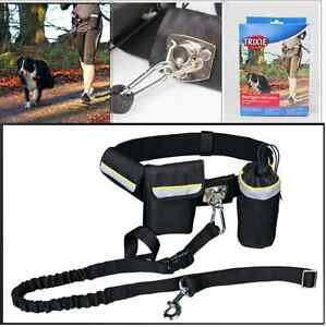 German-Brand-TRIXIE-Waist-Belt-with-Dog-Leash-Pockets-Hands-Free-Jogging-Running