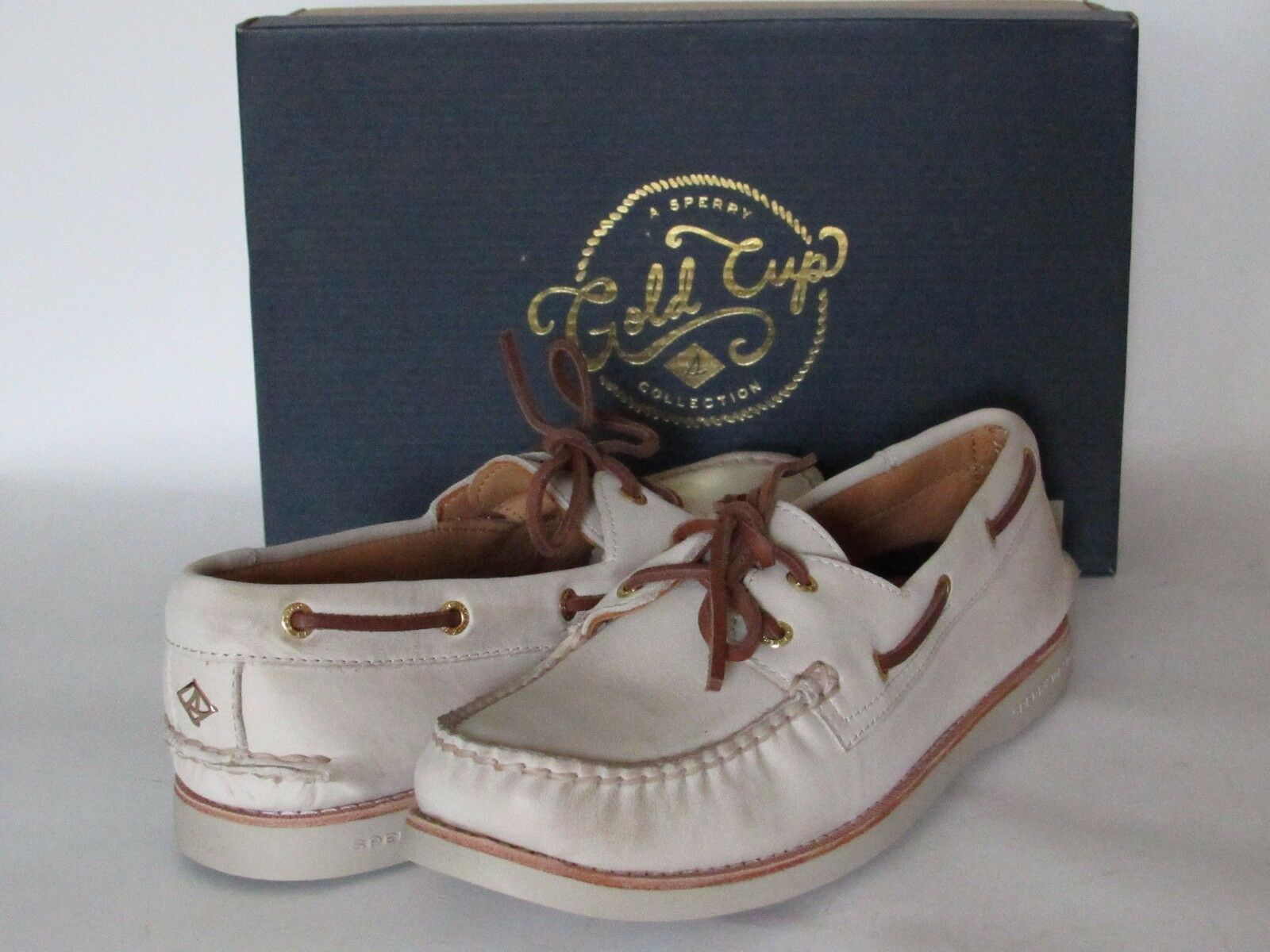 SPERRY Top-Sider gold CUP Women's Leather Loafers A O Boat shoes sz 10