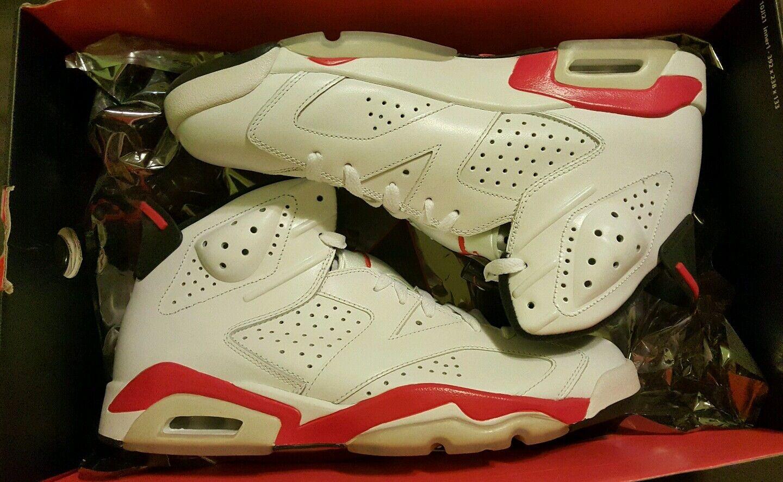 Jordan retro 6 2010 Infrared Pack White Red Black Size 11.5  384664 103