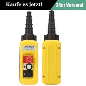 Hängetaster 3 Tasten Not-Aus Auf//Ab Kransteuerung Steuerflasche Seilwinde Kran #