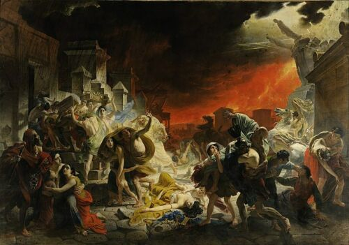 Karl Brullov The Last Day of Pompeii Giclee Canvas Print