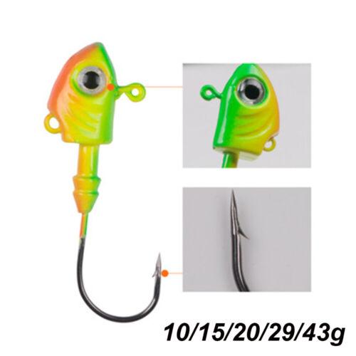Perforated Jigging Bait Durable Head Carbon Steel Lead Head Hook