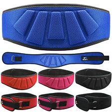 "Neoprene Weight Lifting Belt Back Support Gym Training 5/"" Wide Blue Black BT8"