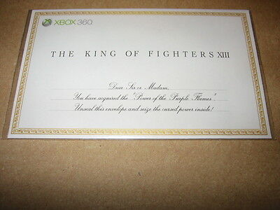 King Of Fighters Xiii Xbox 360 Dlc Download Contents Card Ebay