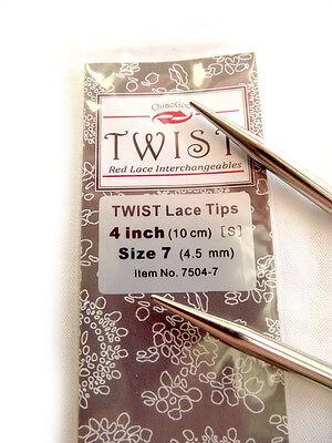 ChiaoGoo 5-Inch Twist Red Lace Interchangeable Tips 10//6mm
