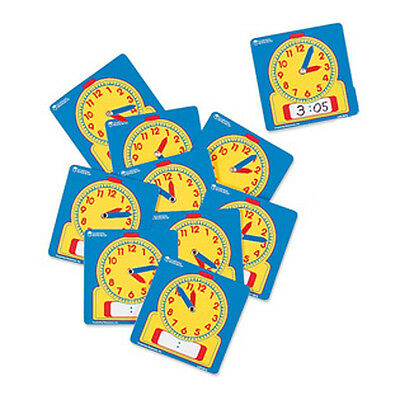 Learning Resources - Pack of 10 Write on/Wipe off student classroom clocks