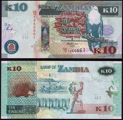 P-New Zambia 5 x 2 Kwacha 2012 LOT 2013 UNC /> New Revalued Currency