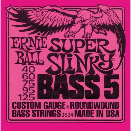 Ernie Ball Super Slinky Bass 5 Strings 40 125 Pink Free US Shipping 2824