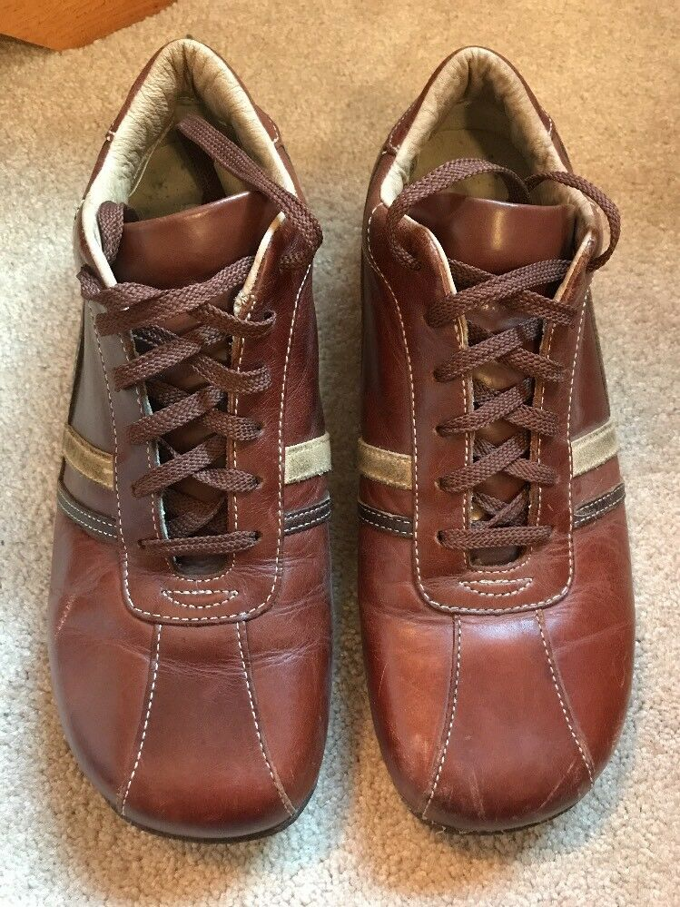 Men's Steve Madden Roloo Size 10 1 2 Sneakers shoes Brown Leather Casual