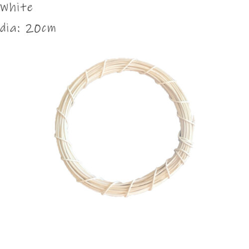 Christmas Wreath Handmade Willow Wicker Wreath Round Ring DIY Material