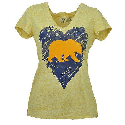 Weitere Ballsportarten Sport Besorgt Ncaa Cal California Golden Bären Herz V-ausschnitt Gelbe T-shirt Damen Sport SchüTtelfrost Und Schmerzen