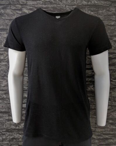 Skin Friendly Tencel Linen Blend Stretch T-Shirts Black Melange Gym Yoga RRP £60