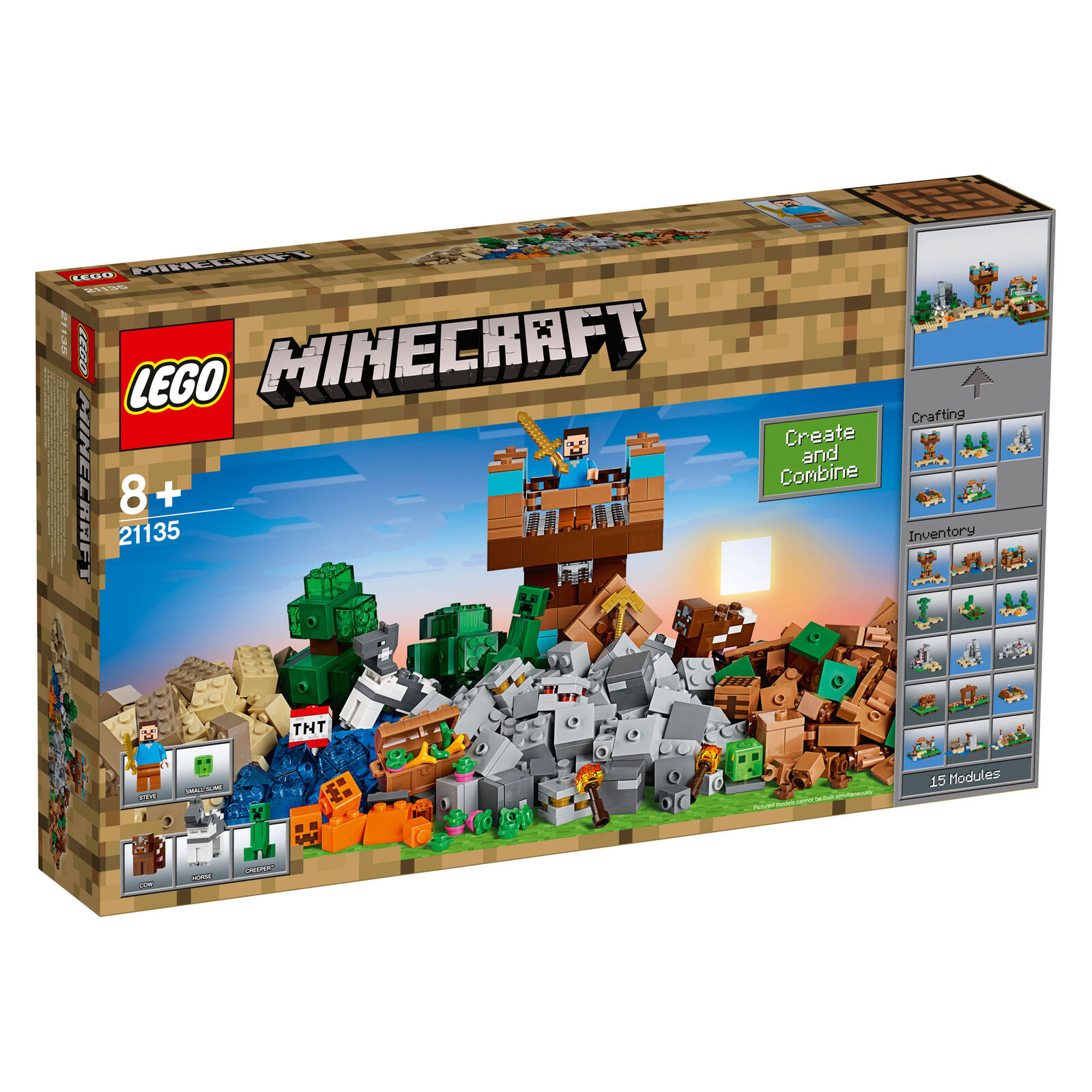 21135 Lego Minecraft The Crafting Box 2.0 8 717 Pieces 8 2.0 Years+ New Release 2017 0f5b55
