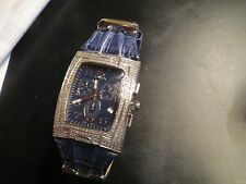 Ice Link Aquila Chronograph Date Watch with 425 genuine diamonds in original box