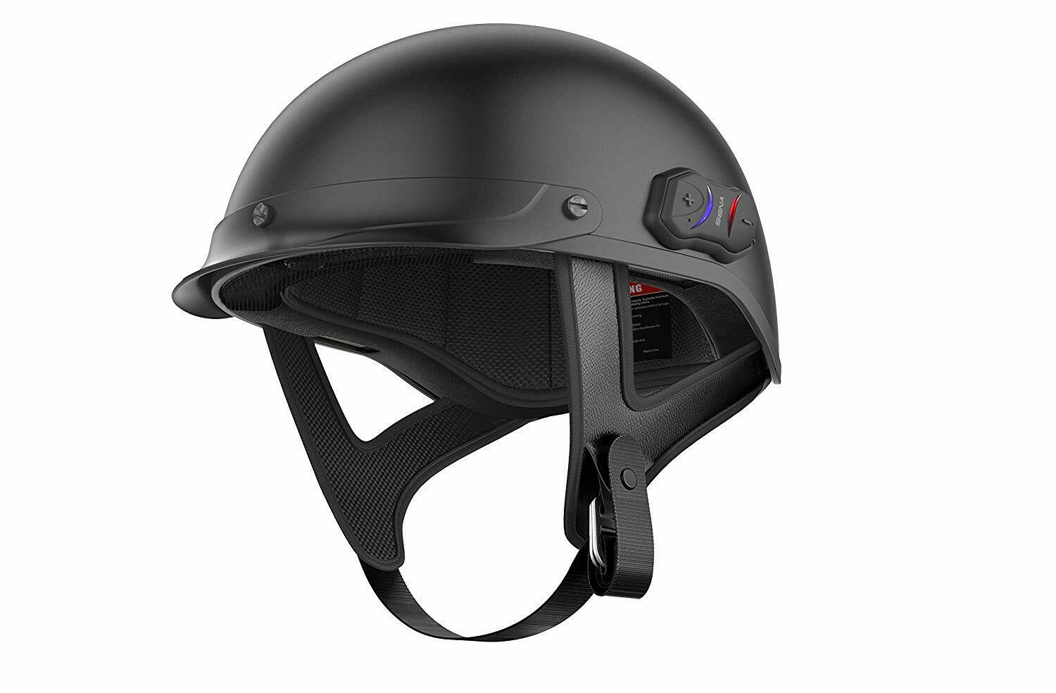 Sena Cavalry Built In Bluetooth Mens Street DOT Motorcycle Half Helmets