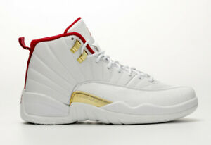 sports shoes 7a660 468c6 Details about NEW DS 2019 Nike AIR JORDAN RETRO 12 FIBA White University  Red Gold 130690-107