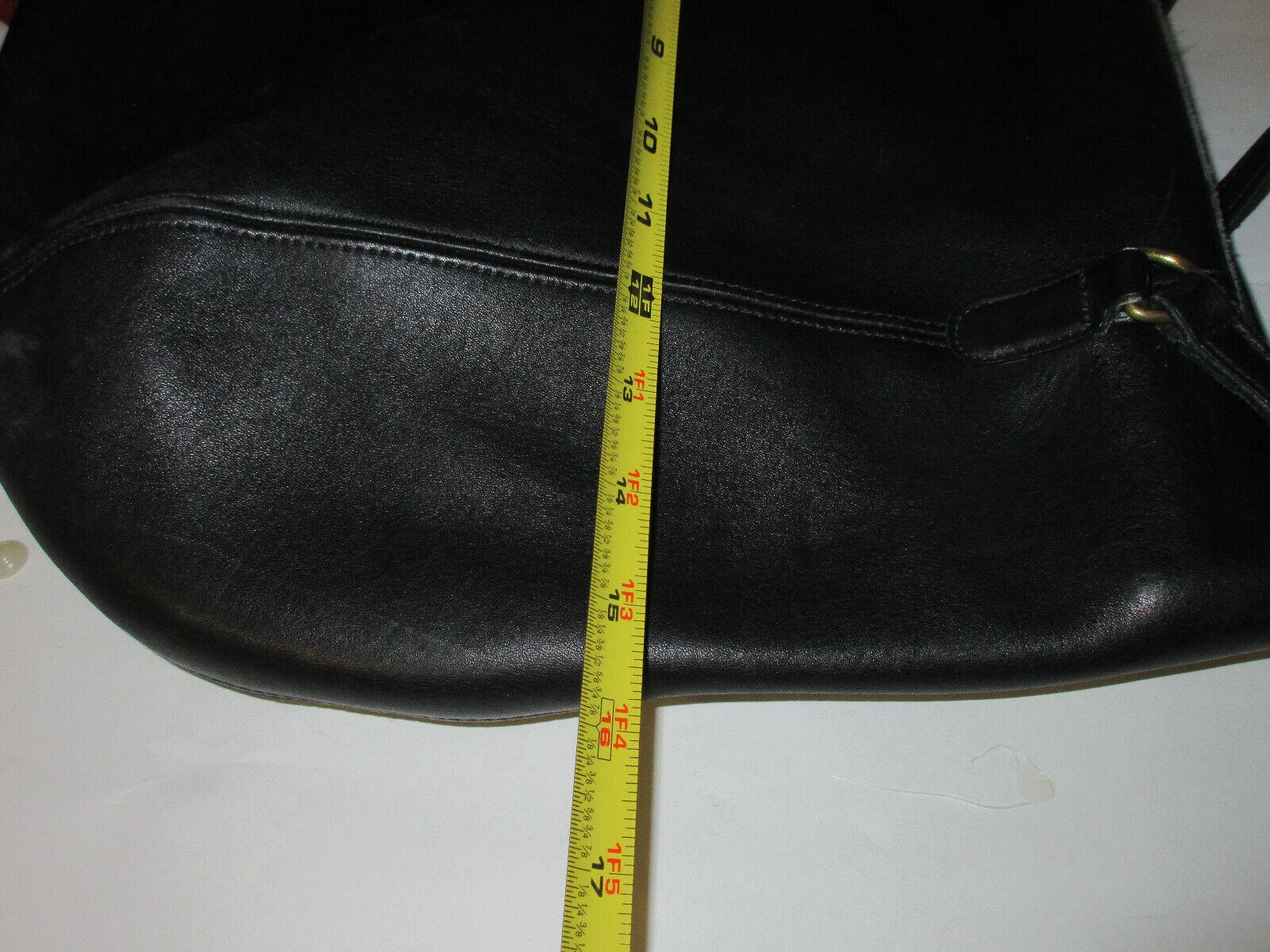 Vtg COACH 9998 Black Leather Large Framed Pouch H… - image 8