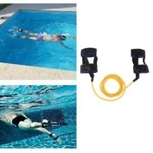 Adult Swim Exerciser Ankle Strap Stationary Swimmer Swim Lap Training Leash Belt