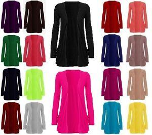 Women-Ladies-Plain-Long-Sleeve-Stretchy-Cardigan-Boyfriend-Top-Front-Pocket-8-26