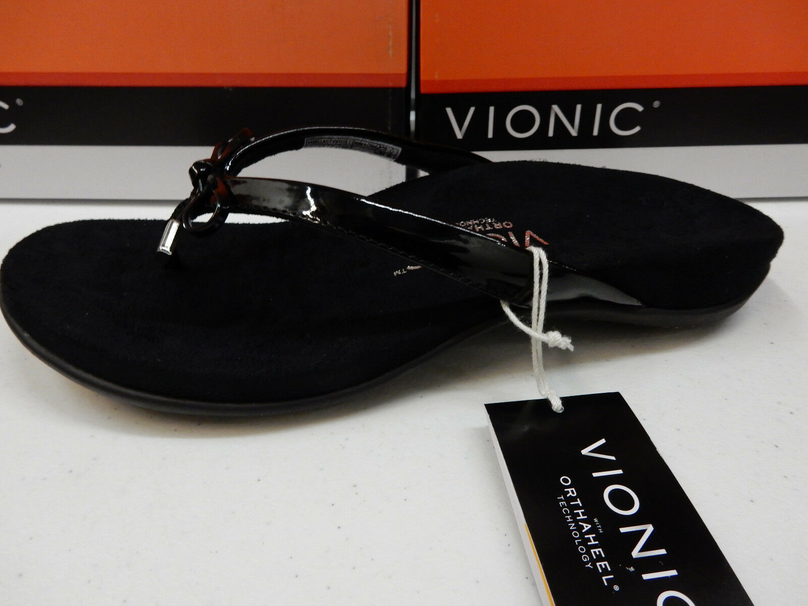 VIONIC Damenschuhe SANDALS BELLA II BLACK SIZE 7