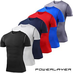 Mens-Boys-Compression-Armour-Base-Layer-Short-Sleeve-Thermal-Under-Top-Shirt-New