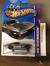 '64 Corvette Sting Ray #204 * ZAMAC * 2013 Hot Wheels G2