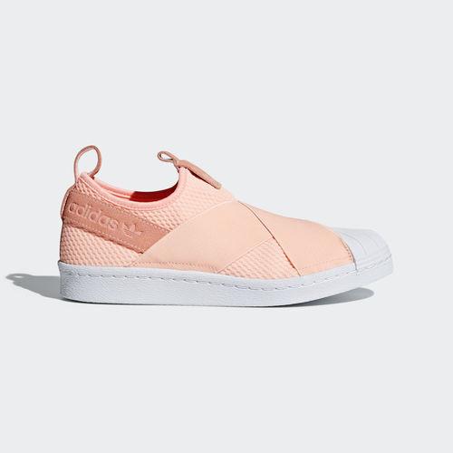 Adidas AQ0919 Women Superstar Slip on Casual shoes orange white sneakers Seasonal price cuts, discount benefits