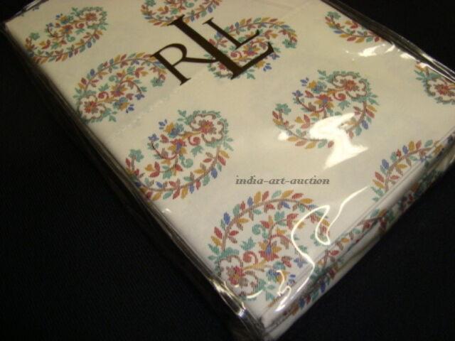 New Ralph Lauren King 2 Pillowcases Set Antigua Paisley