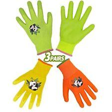 Handlandy Kids Gardening Gloves For Age 2 13 Pairs Nitrile Coated Toddler Girls