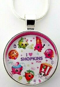 SHOPKINS LIPPY LIPS PURSE NECKLACE 18 INCH STRONG CHAIN GIFT BOX PARTY BIRTHDAY