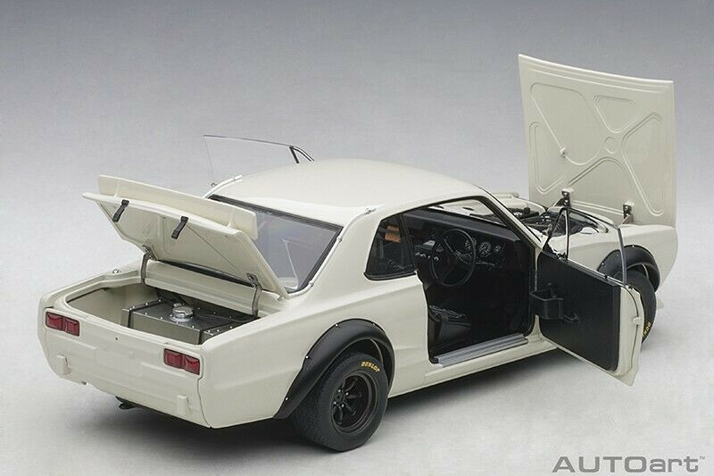 Autoart NISSAN SKYLINE GT-R KPGC-10 RACING 1972 WHITE 1 18 Scale New Release
