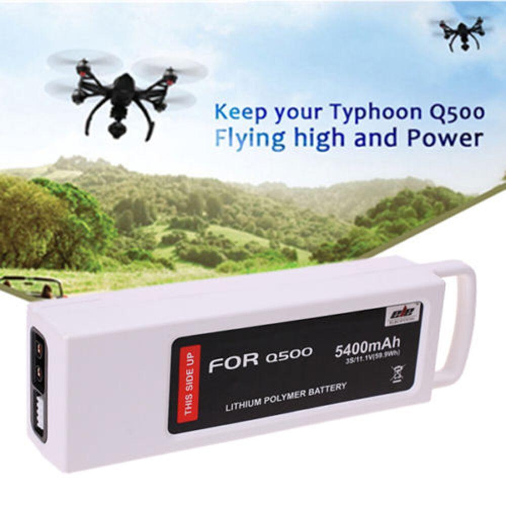 11.1 voltios 5400mAh 3S 3 celdas 5C Batería Lipo para RC Drone Yuneec Q500 Series