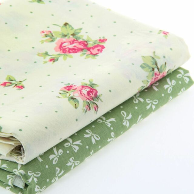 2pcs 50cm*40cm Fabric Flower Printed Patchwork Sewing Textile Baby Clothes