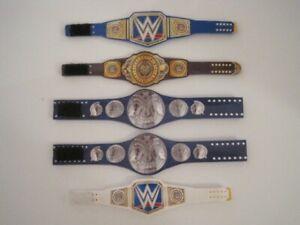 10 WWE NXT Custom RAW Titles Belts For Mattel Wrestling Figures WWF
